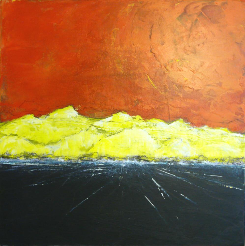 Incandescence Acrylique sur toile 50x50 cm
