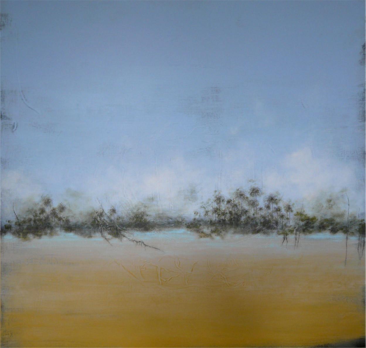 Oasis acrylique sur toile 100x100 cm