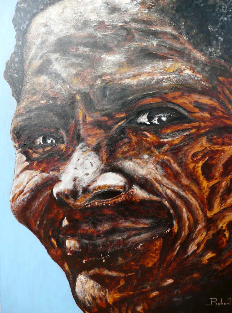 Visage 1 acrylique sur  toile 100x81 cm