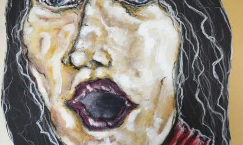 Visage 15 acrylique sur toile