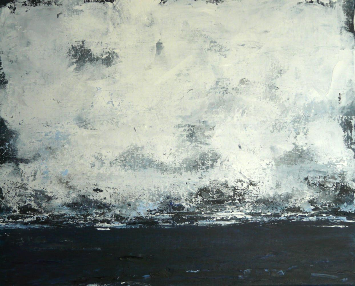 Brouillard n°2 38x46 cm  acryl sur toile