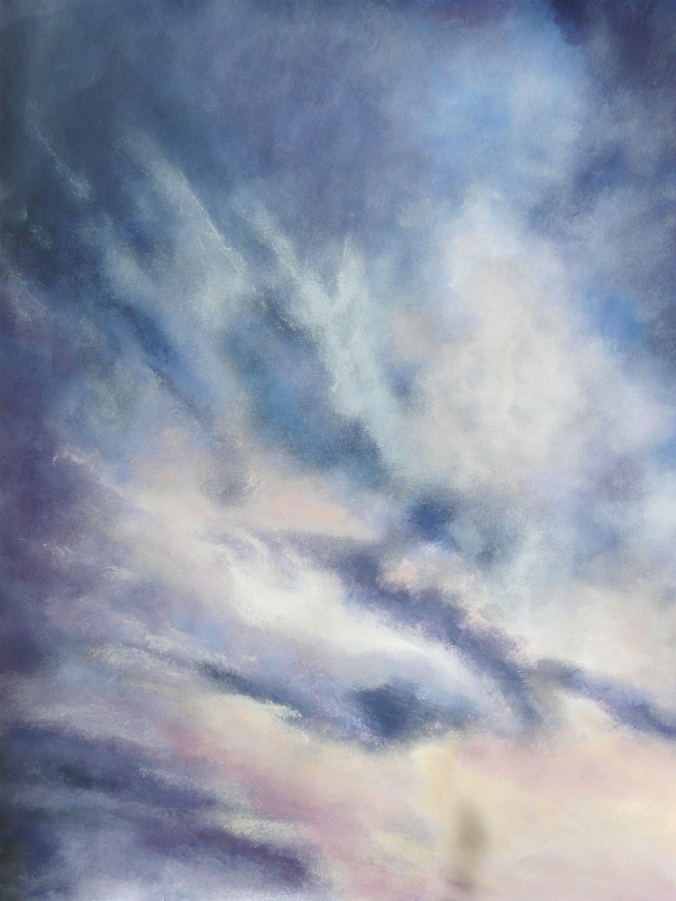 Ciel acryl s papier Encadré 67x52 cm