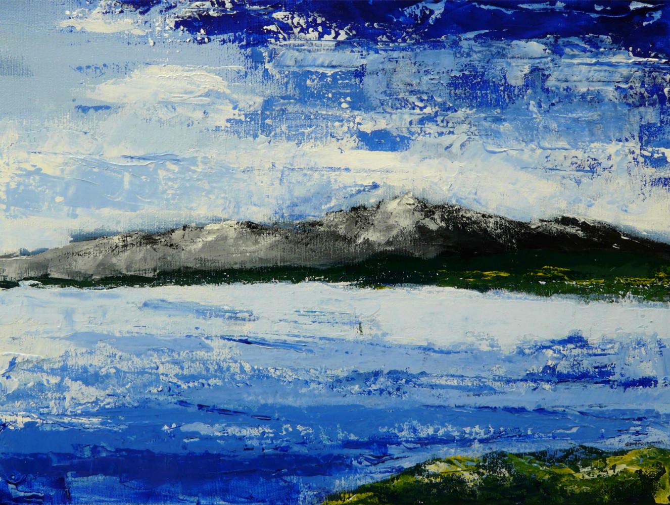 Le Canigou 1 acrylique toile 30x24 cm