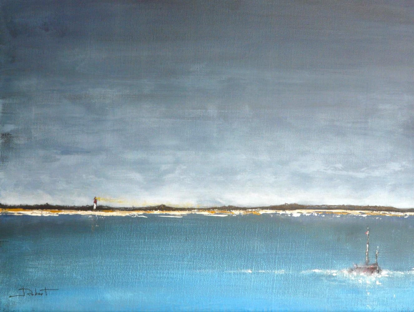 Le phare - acrylique sur toile 33x24 cm