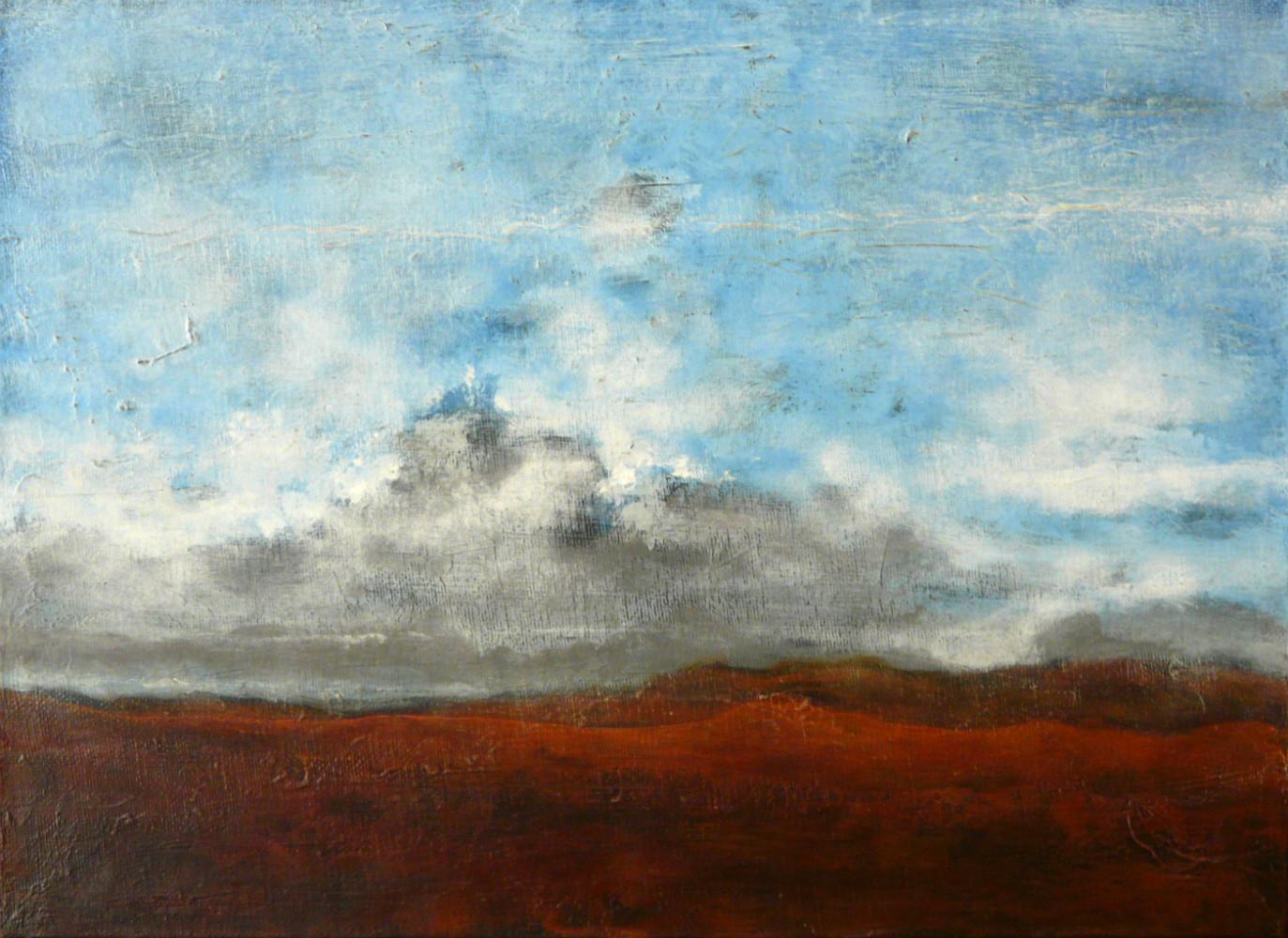 Terre rouge - acrylique s toile 33x24 cm