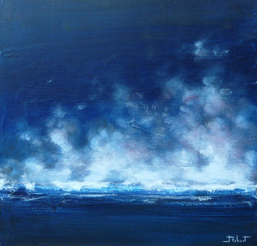 Turbulences acrylique sur toile 50x50 cm