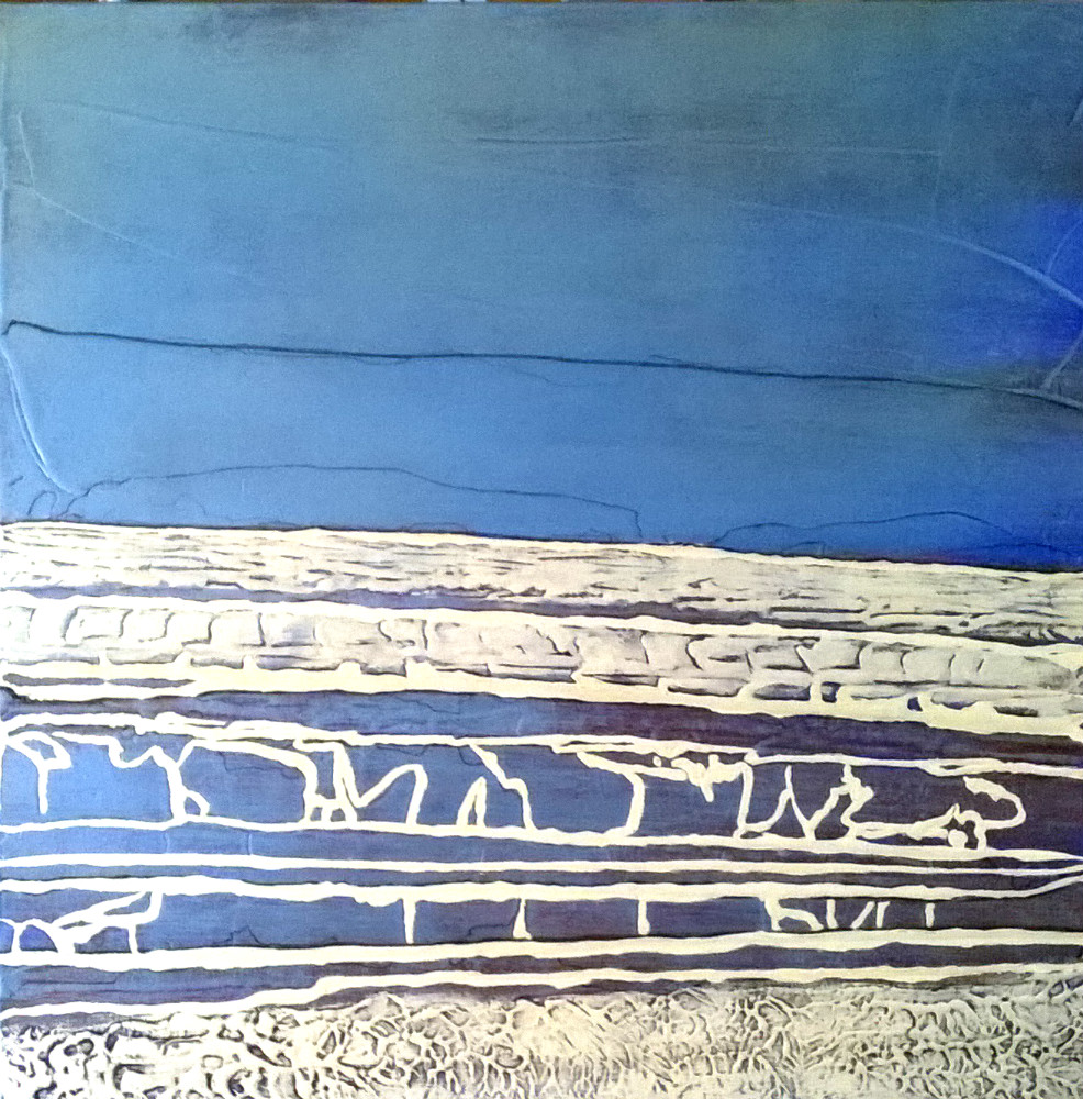 Ecume - acrylique sur toile 60x60 cm