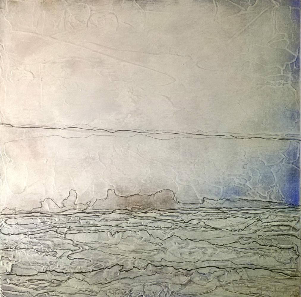 Méandres - acrylique sur toile 60x60 cm