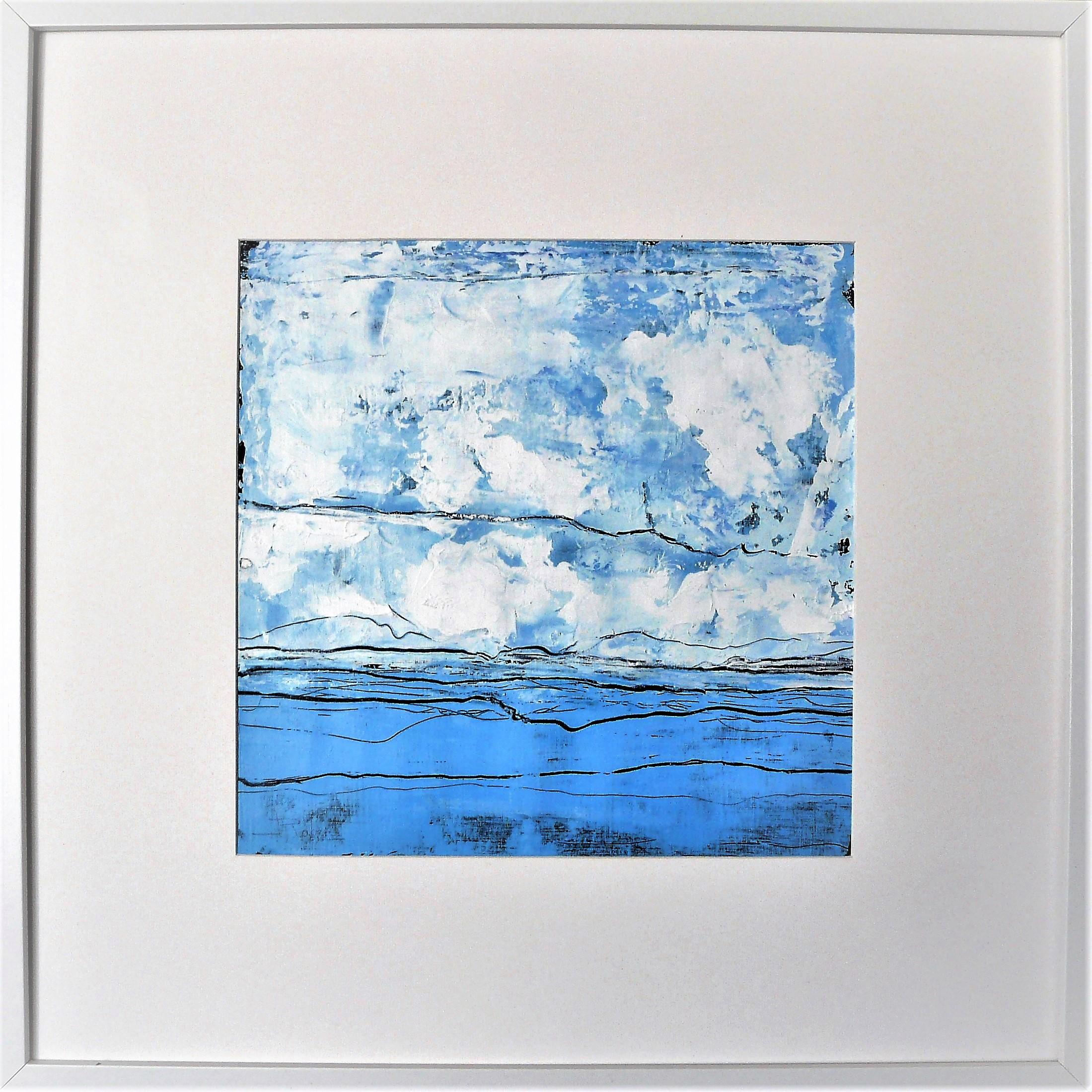 Océan mer pm num 3 acrylique sur papier toilé 30x30 et 50x50 cm avec cadre