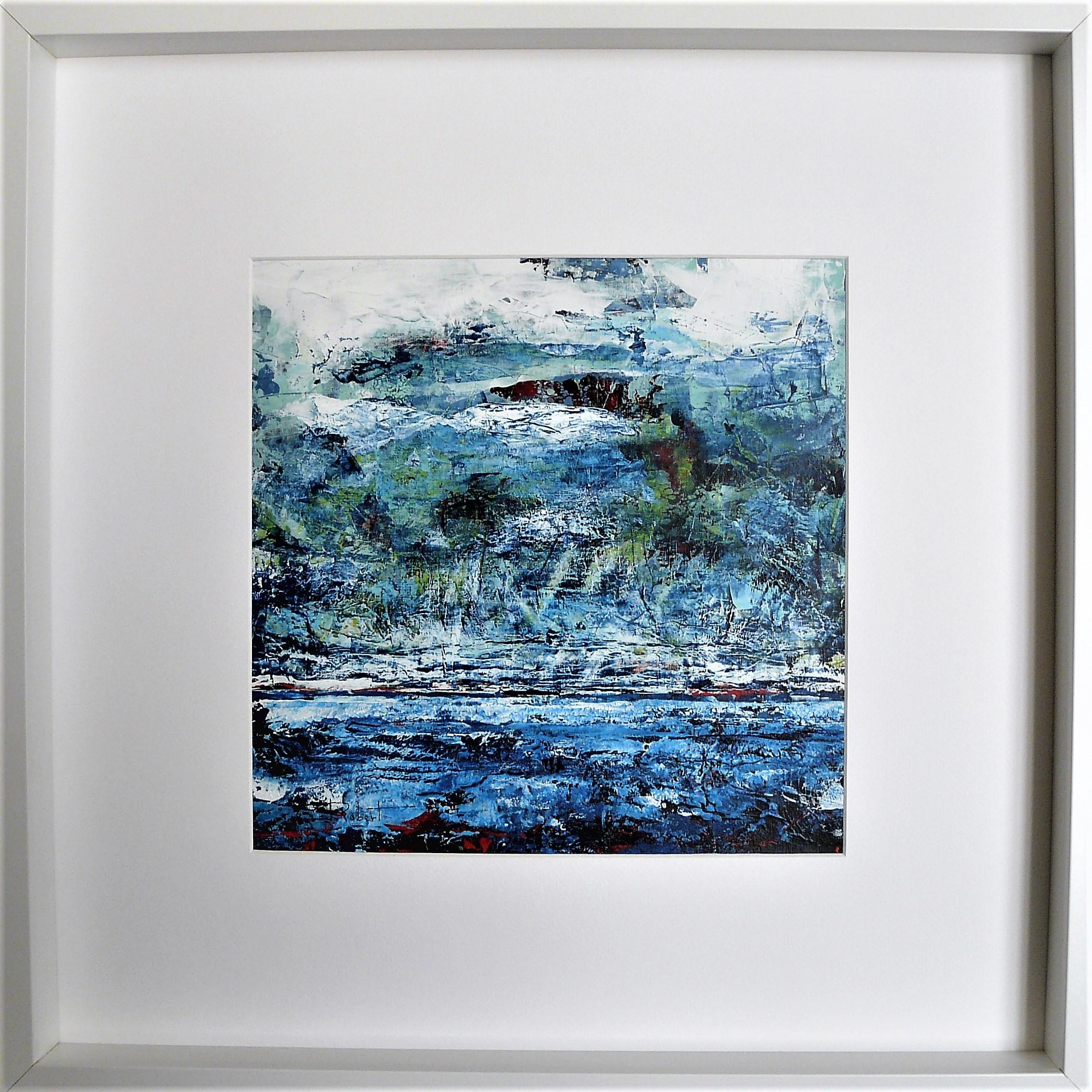 Océan mer pm num 5 acrylique sur papier toilé 30x30 et 50x50 cm avec cadre