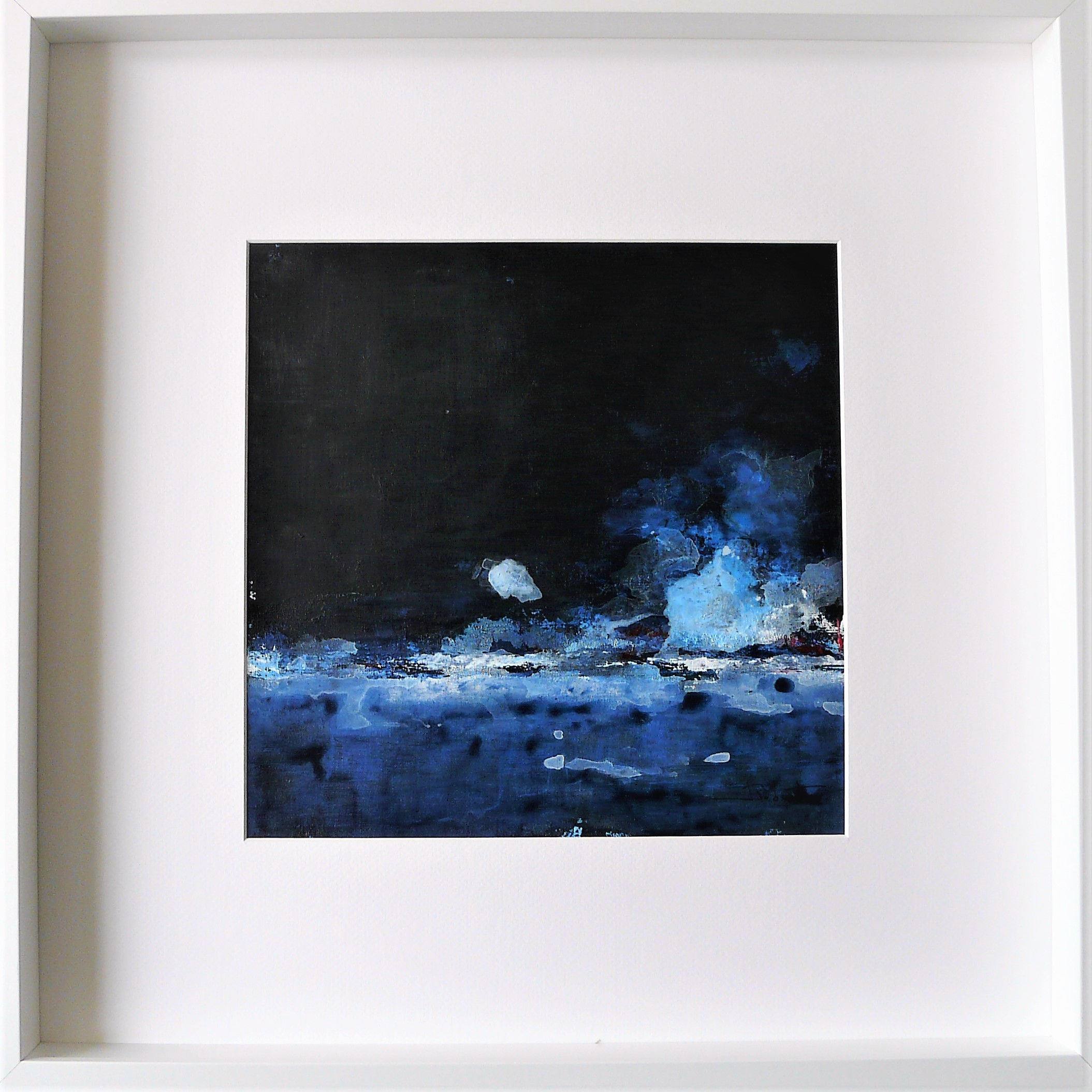 Océan mer pm num 8 acrylique sur papier toilé 30x30 et 50x50 cm avec cadre