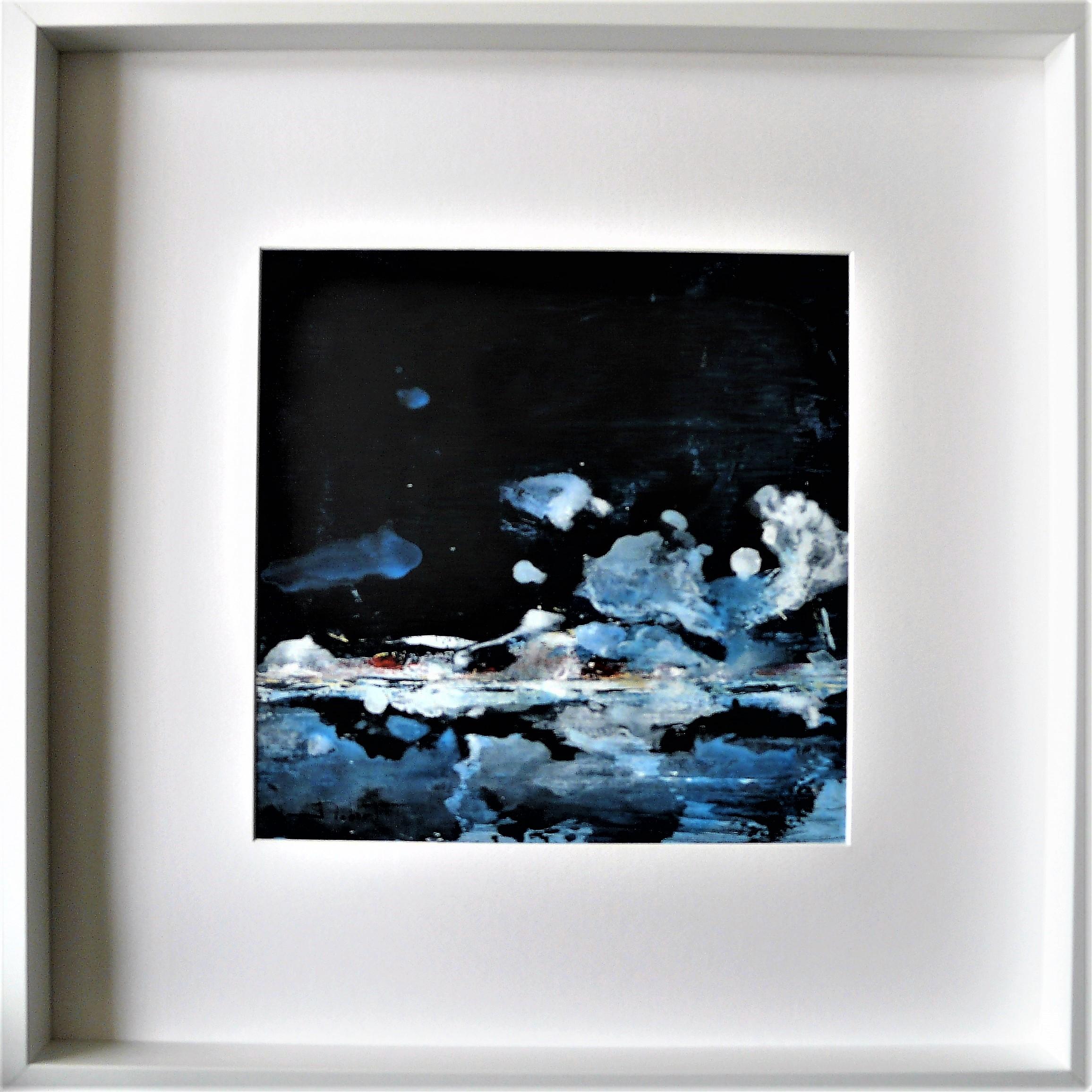 Océan mer pm num 9 acrylique sur papier toilé 30x30 et 50x50 cm avec cadre